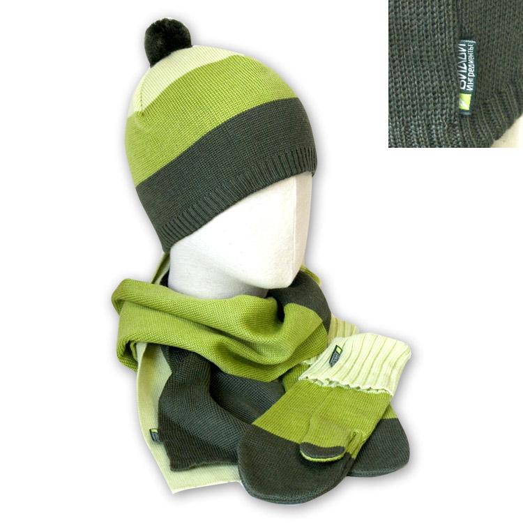 Вязаный комплект шарфик шапочка варежки